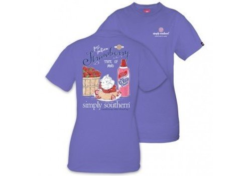 Simply Southern Simply Southern Strawberry and Whip Cream SS T-Shirt
