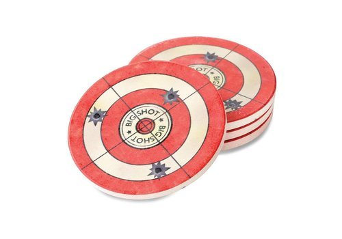 Big Sky Target Coaster Set of 4