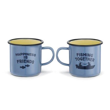 Fishing Enamelware Mug