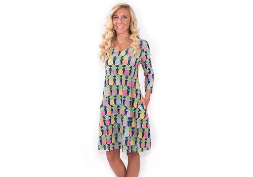 Simply Southern Simply Southern Scoop Neck Tasty South Dress