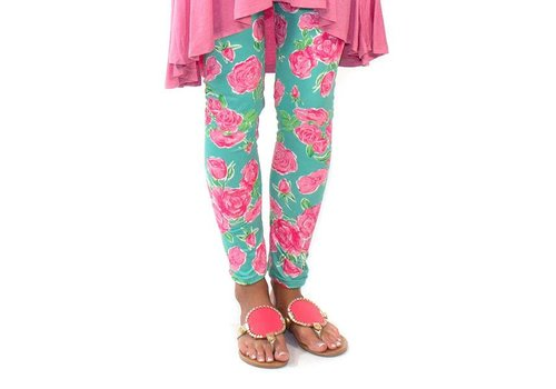 Simply Southern Simply Southern Leggings Roses