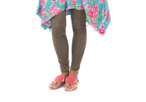 Simply Southern Simply Southern Leggings Olive PLUS