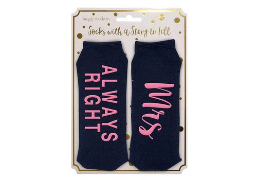 Simply Southern Simply Southern Always Right Socks