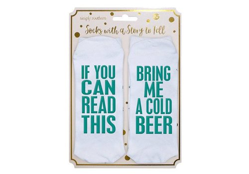 Simply Southern Simply Southern Bring Me Cold Beer Socks
