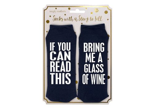 Simply Southern Simply Southern Bring Me Glass of Wine Socks