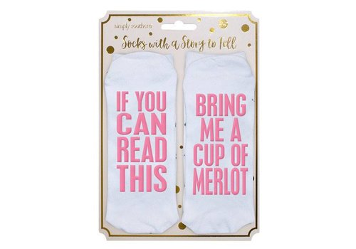 Simply Southern Simply Southern Bring Me Cup Meriot Socks