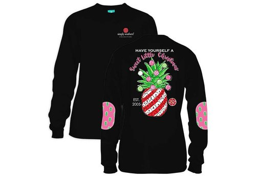 Simply Southern Simply Southern Have a Sweet Christmas LS Black