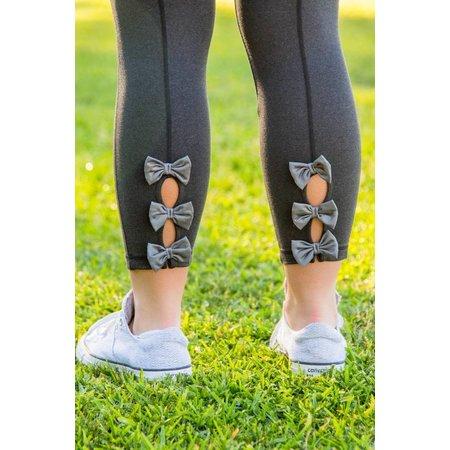 FIT Bow Back Leggings Black