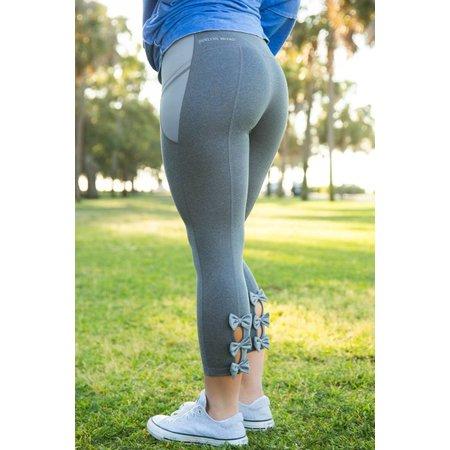 FIT Bow Back Leggings Grey