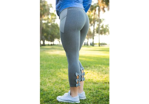 Jadelynn Brooke Jadelynn Brooke FIT Bow Back Leggings Grey