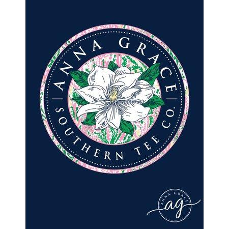 Magnolia Logo Navy Long Sleeve T-Shirt