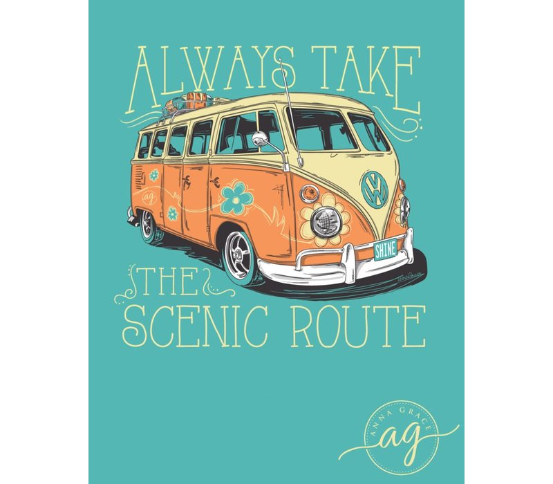 Anna Grace Take the Scenic Route Chalky Mint