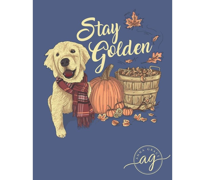 Anna Grace Stay Golden Blue Jean