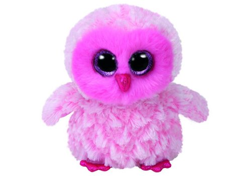 Ty Twiggy the Pink Owl Beanie Boo 6""