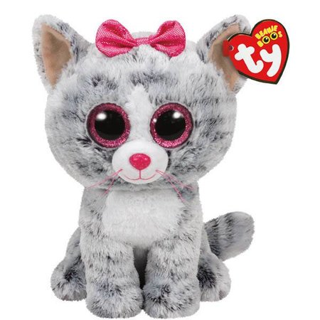 Kiki the Grey Cat Beanie Boo 6""
