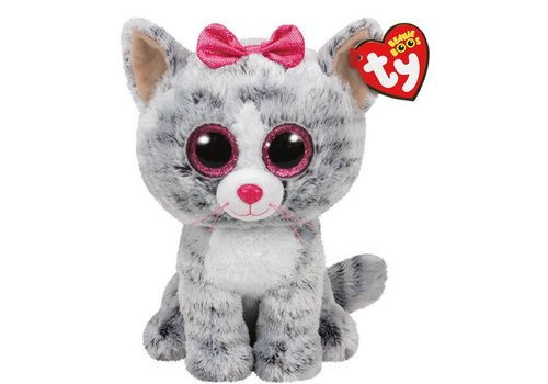 Ty Kiki the Grey Cat Beanie Boo 6""
