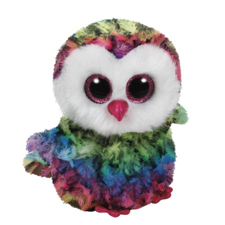 Owen the Rainbow Owl Beanie Boo 6""