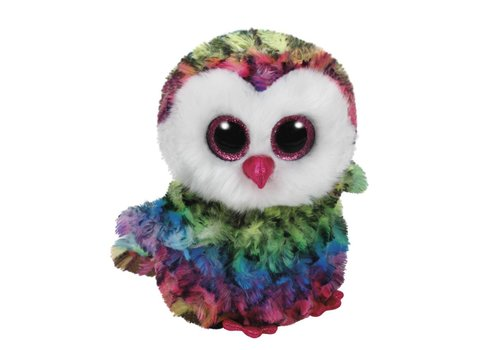 Ty Owen the Rainbow Owl Beanie Boo 6""