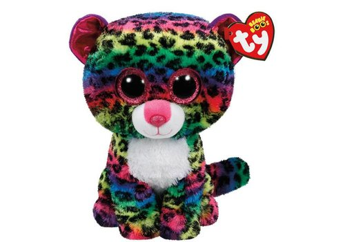 Ty Dotty the Rainbow Leopard Beanie Boo 8.5""