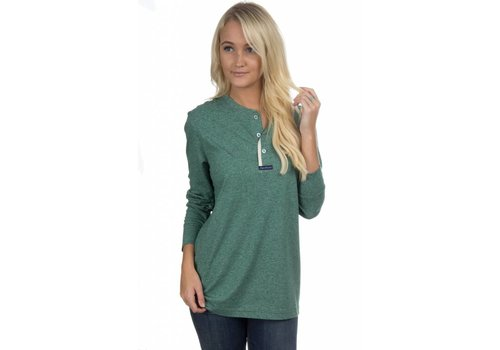 Lauren James Lauren James Boyfriend Tee Heather Hunter Green