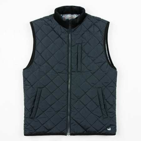 Southern Marsh Perry Quilted Vest Navy