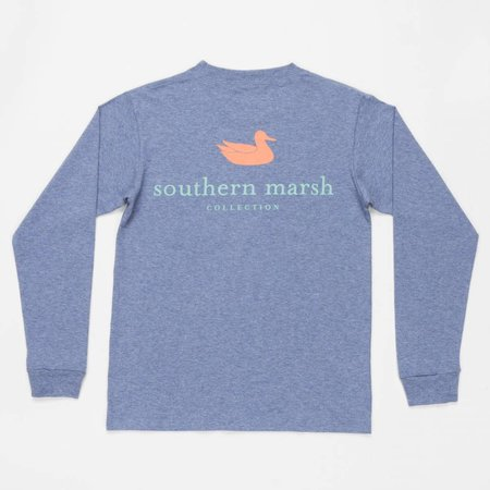 Southern Marsh Authentic Logo Washed Slate YOUTH