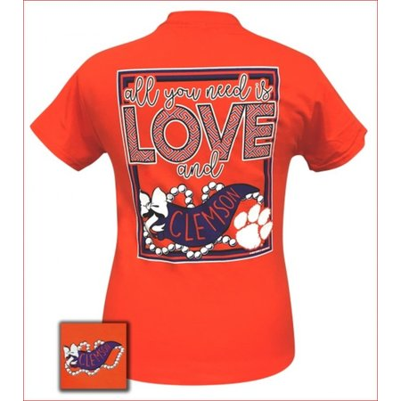 Girlie Girl All You Need Is Love and Clemson Orange
