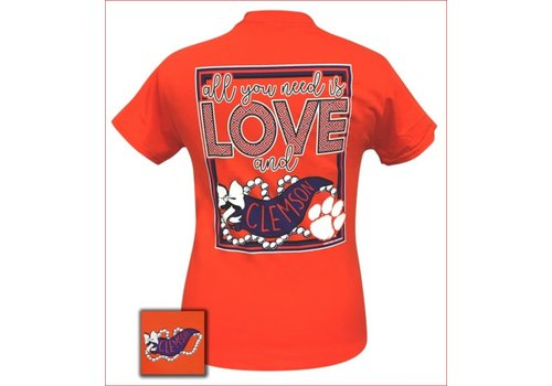 Girlie Girl Girlie Girl All You Need Is Love and Clemson Orange