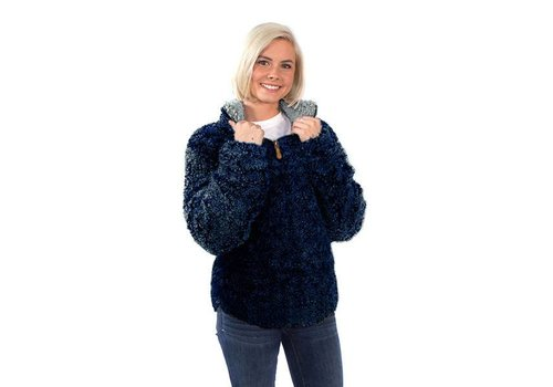 Simply Southern Simply Southern Sherpa Pullover Navy