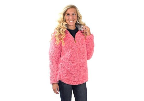Simply Southern Simply Southern Sherpa Pullover Peony