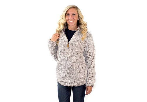 Simply Southern Simply Southern Sherpa Pullover Pearl