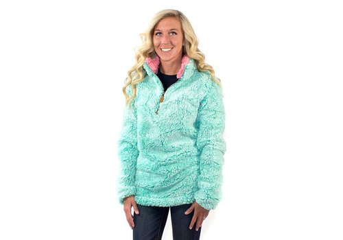 Simply Southern Simply Southern Sherpa Pullover Seaglass