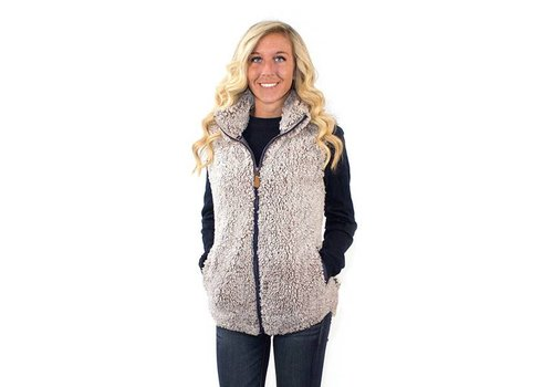Simply Southern Simply Southern Sherpa Vest Pearl