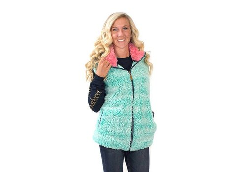 Simply Southern Simply Southern Sherpa Vest Seaglass