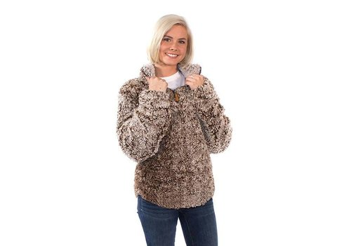 Simply Southern Simply Southern Sherpa Pullover Mocha YOUTH