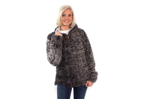 Simply Southern Simply Southern Sherpa Pullover Steel YOUTH