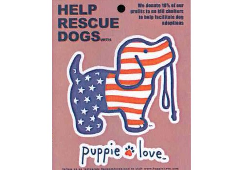 Puppie Love Puppie Love USA Pup Decal