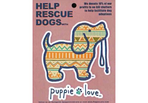 Puppie Love Puppie Love Aztec Pup Decal