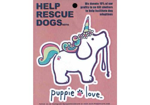 Puppie Love Puppie Love Unicorn Pup Decal