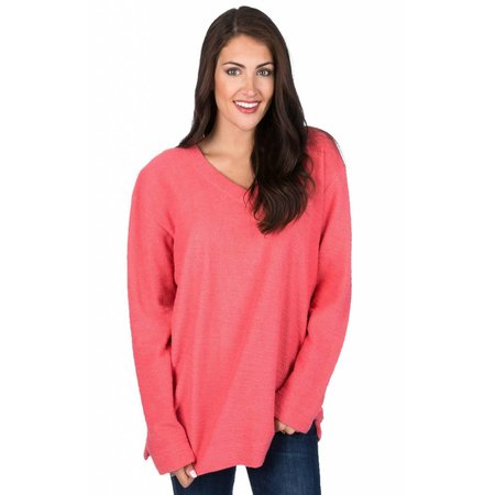Shaggy Sweater Coral