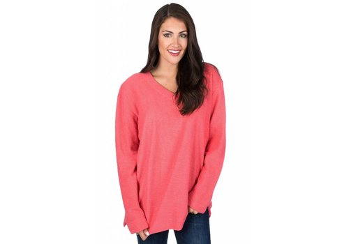 Lauren James Lauren James Shaggy Sweater Coral