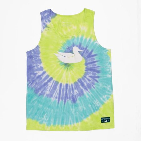 Southern Marsh Whitling Tie Dye Tank Lilac Lime & Teal