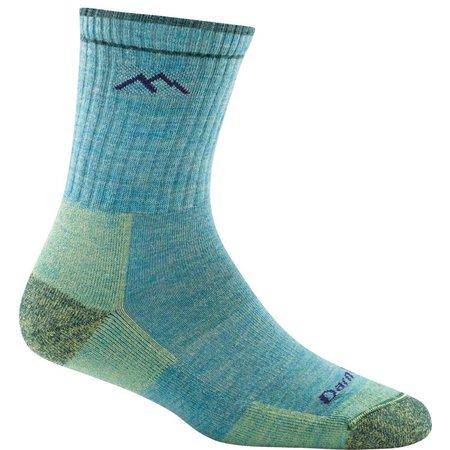 Darn Tough Merino Wool Micro Crew Sock Cushion Aqua Heather