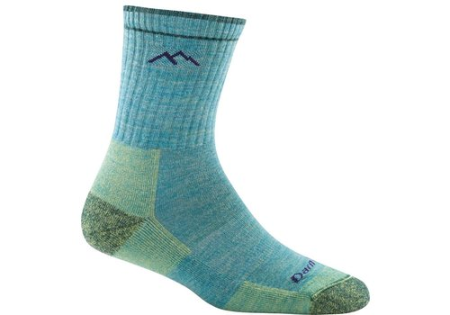 Darn Tough Darn Tough Merino Wool Micro Crew Sock Cushion Aqua Heather