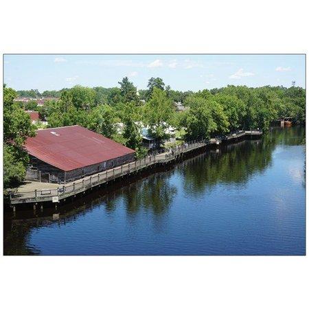 Postcard Conway Riverwalk Aerial View