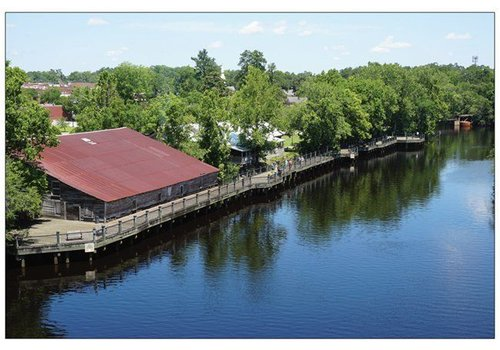 Vistaprint Postcard Conway Riverwalk Aerial View