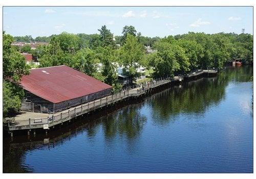 Vistaprint Postcard Conway Riverwalk Aerial View