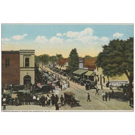 Postcard 1920s Conway Main Street