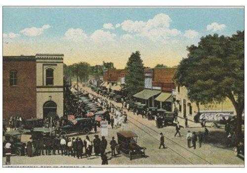 Vistaprint Postcard 1920s Conway Main Street