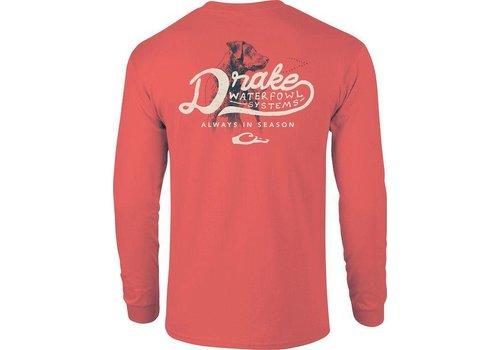 Drake Drake Lab Always In season Bright Salmon L/S